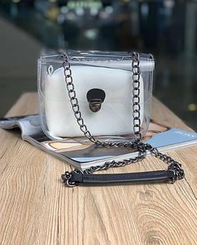 Жіноча сумка прозора біла