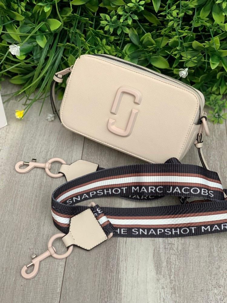 Женская сумка Marc Jacobs Snapshot бежевая