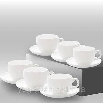 Сервиз чайный Essence 12 предметный ( 6 чашек 220 мл с блюдцами) Luminarc.