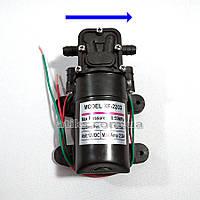 Насос водяной KF-2203 без датчика, 12 В, вправо 3,1 л/мин. Помпа для опрыскивателя 12В.