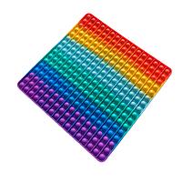 Антистресс игрушка Pop It большой силиконовая Поп Ит Push Up Bubble Разноцветная микс