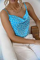 """Блузка жіноча полубатальная на бретелях, розміри 42-52 (2цв) """"VLADA"""" купити недорого від прямого постачальника"""
