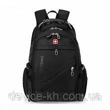 Надежный Швейцарский рюкзак 8810 Black универсальный