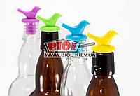 Набор 4шт. силиконовых пробок для бутылок (разноцветные) в форме птиц Empire EM-9700