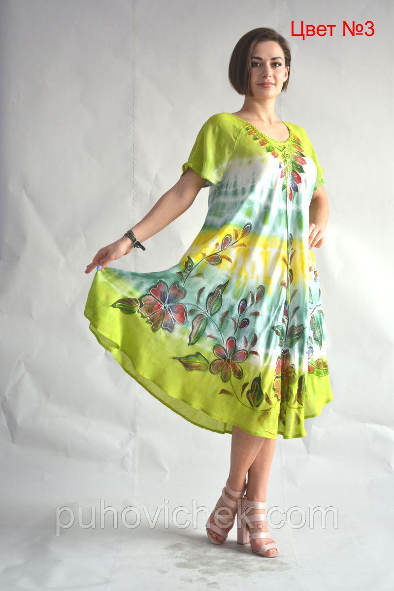 Женское платье летнее натуральное размеры 48-58