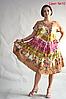 Женское платье летнее натуральное размеры 48-58, фото 4