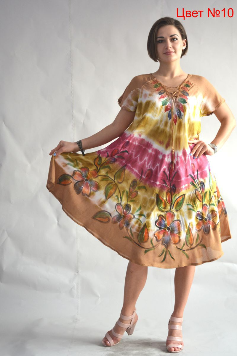 Платье летнее женское натуральное размеры 48-58