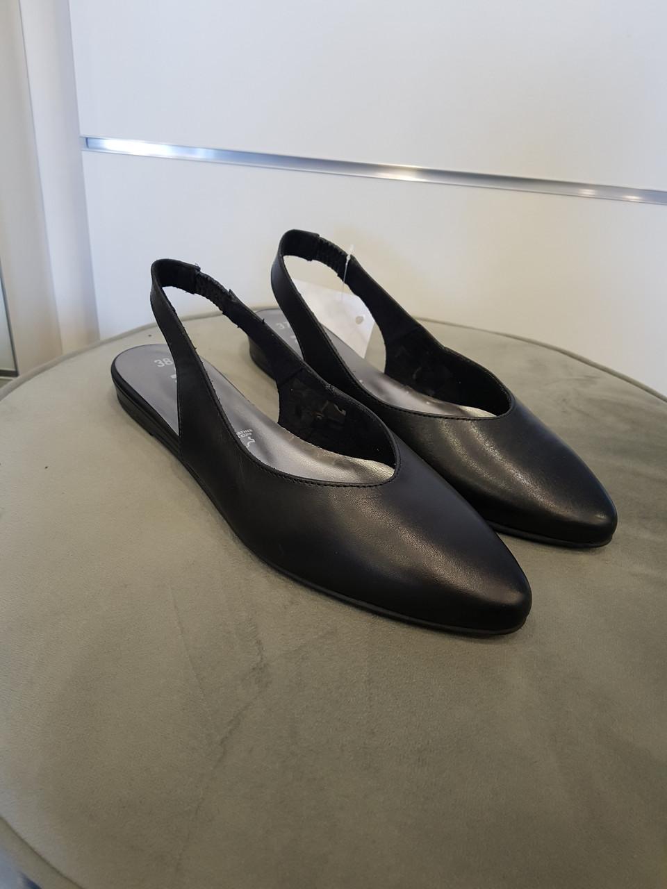 Туфлі жіночі TAMARIS Black Leather чорна рецикльована шкіра