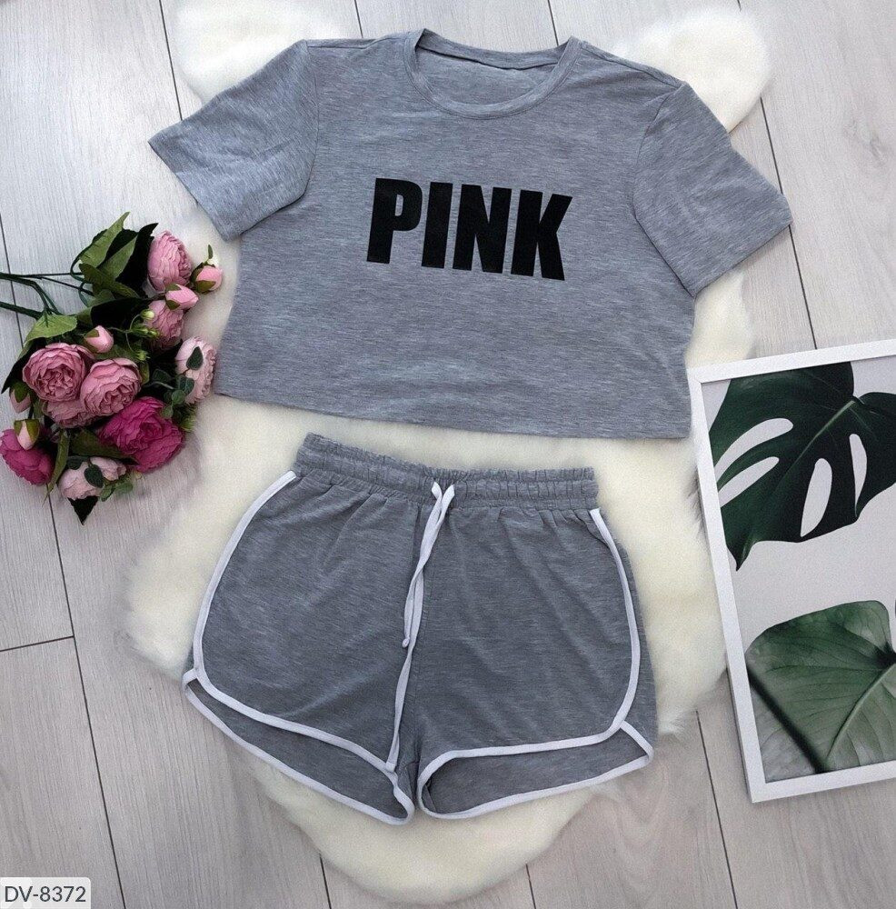 """Жіночий костюм з шортами і футболкою """"Pink"""""""