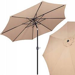 Зонт садовый стоячий (для террасы, пляжа) с наклоном Springos 290 см GU0016
