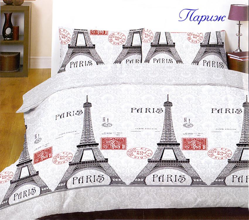 Комплект постельного белья евро ранфорс ТМ TAG Париж
