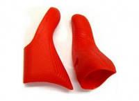 Campagnolo кожухи силіконові на ручки перемикання/гальма Ultra Shift 10s/11s червоний