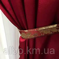 Шторы в гостиную ALBO 150х270 cm (2 шт) и ламбрекен бордовый (LS-230-20), фото 8