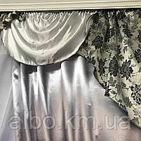 Красивые шторы с ламбрекеном для дома спальни зала, изысканные шторы жаккард в хол прихожую гостинную,, фото 7