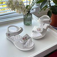 Босоножки сандали Apawwa белые детские красивые босоніжки сандалі размер 26 28 29 30 31