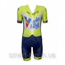 Комбинезон Dnepr Master Cycling Team  Pro-T04/Cyclo-One желтый/синий 44