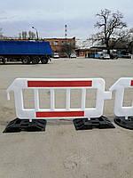 Дорожный сигнальный барьер пластиковый, дорожные ограждения, фото 1
