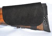 Патронташ на приклад замшевий коричневий чорний