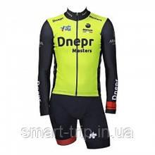 Веломайка Dnepr Master Cycling 2019 длинный рукав Billi EVO желтый/черный