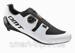 Велотуфлі DMT модель KR3 шосейні білі з чорним