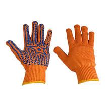 Перчатки рабочие ХБ  Звезда оранжевые