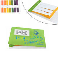 Лакмусовий індикаторний папір pH тест смужки pH1-14, 72шт