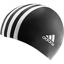 Шапочка для плавания Adidas Kids 3 Stripe Silicone Cap