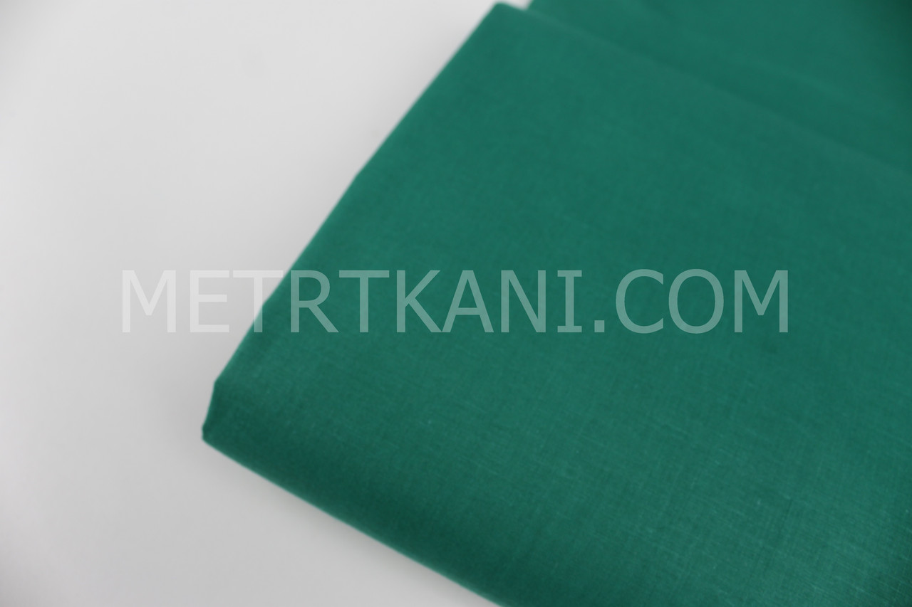 Лоскуток. Однотонная польская бязь зеленого цвета 135 г/м2 , 30*160 см