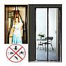 Дверная антимоскитная сетка штора на магнитах коричневая, фото 6