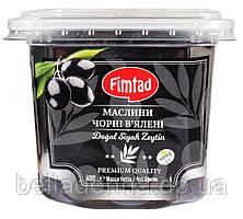 Оливки чёрные (маслины) вяленые с косточкой 400 г Fimtad S (Турция)