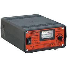 Зарядний пристрій Аїда 6 з плавним регулюванням струму для авто акумуляторів 4-75 Ач.
