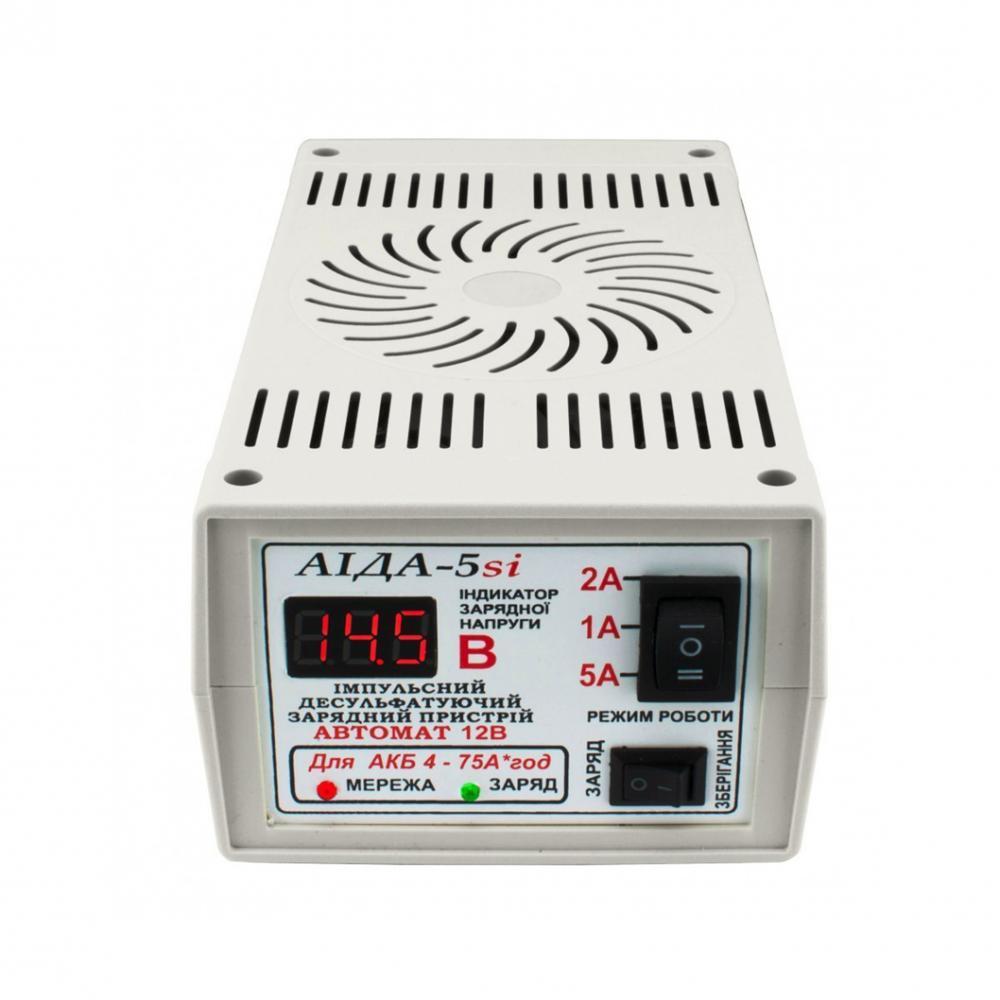 Зарядний пристрій Аїда 5si для кислотних і гелевих АКБ 4-75 Ач