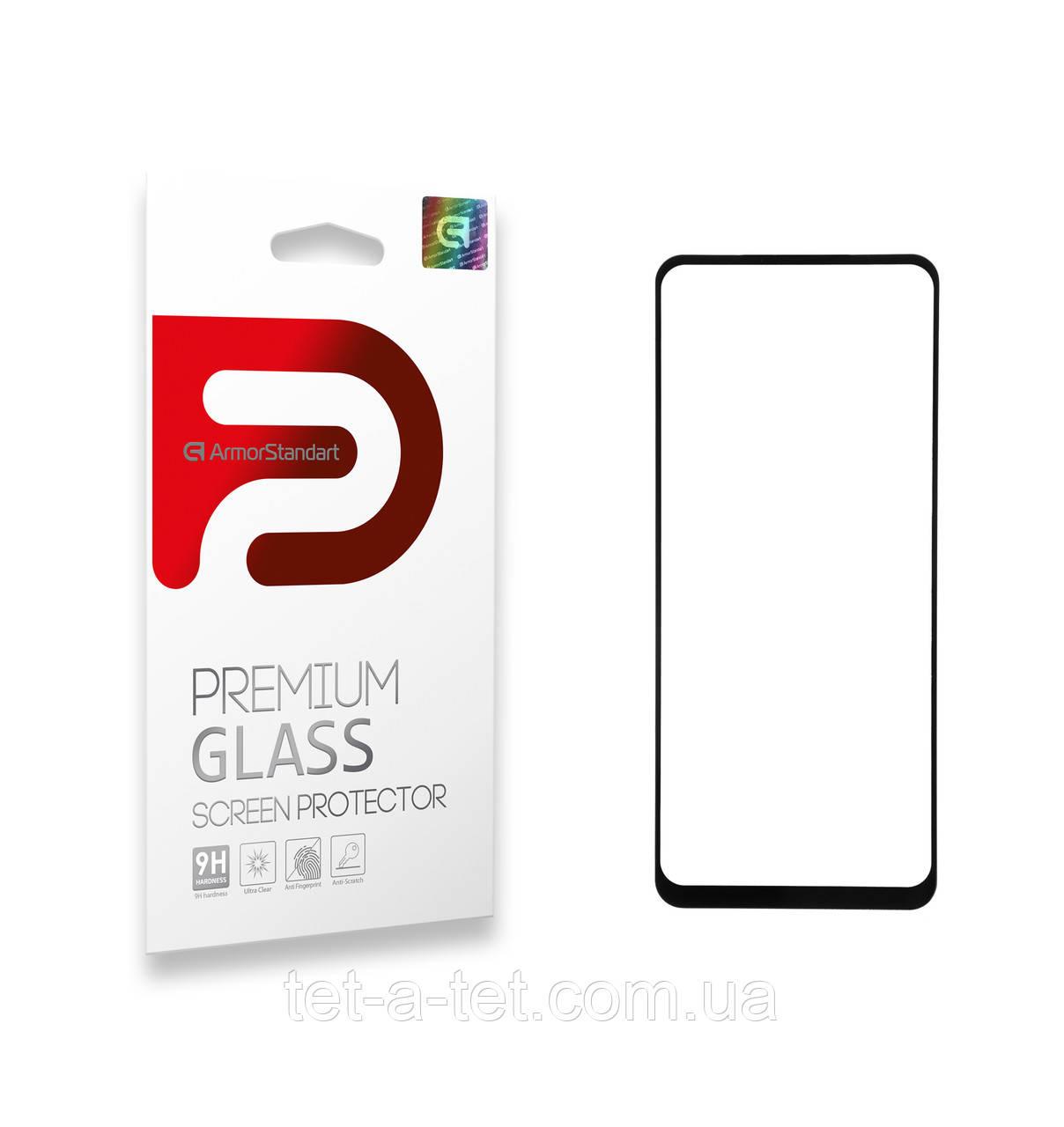 Защитное стекло Armorstandart Full Glue для TECNO Spark 6 (KE7) Black (premium glass)