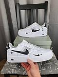 Nike Air Force 1 07 Low LV8 Ultra White белые Найк Эйр Форс 1 07 Лов ЛВ8 кроссовки для мужчин. Обувь весенняя, фото 3