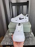 Nike Air Force 1 07 Low LV8 Ultra White белые Найк Эйр Форс 1 07 Лов ЛВ8 кроссовки для мужчин. Обувь весенняя, фото 4