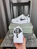 Nike Air Force 1 07 Low LV8 Ultra White белые Найк Эйр Форс 1 07 Лов ЛВ8 кроссовки для мужчин. Обувь весенняя, фото 5