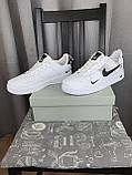 Nike Air Force 1 07 Low LV8 Ultra White белые Найк Эйр Форс 1 07 Лов ЛВ8 кроссовки для мужчин. Обувь весенняя, фото 6