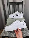 Nike Air Force 1 07 Low LV8 Ultra White белые Найк Эйр Форс 1 07 Лов ЛВ8 кроссовки для мужчин. Обувь весенняя, фото 8