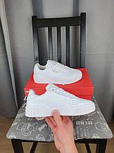 Женские кроссовки Puma Cali Bold White белые Кроссы для девушек Пума Кали в белом цвете повседневные