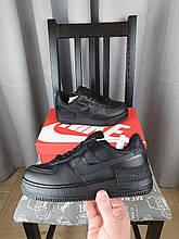 Черные Nike Air Force 1 Shadow Black кроссы женские. Кроссовки Найк Аир Форсе Шедоу черные для девушек
