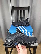 Кроссовки черные Adidas летние мужские Адидас текстильные