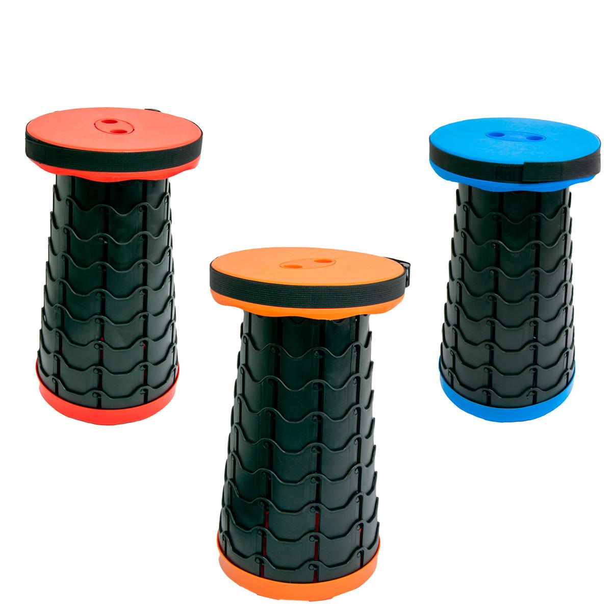 """Табурет складной пластиковый """"Folding stool - Оранжевый"""" 45х26 см, раскладной телескопический стул (ST)"""