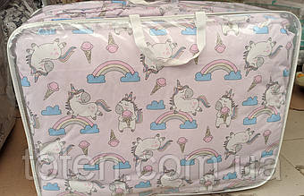 Білизна постільна 9 в 1 з балдахіном і захистом 12 подушок, бязь, бавовна комплект в дитяче ліжечко