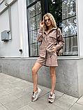 Костюм жіночий лляної річний сорочка і шорти, фото 4