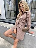 Костюм жіночий лляної річний сорочка і шорти, фото 5