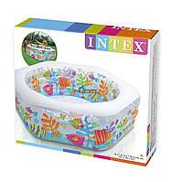 Бассейн надувной Надувной детский бассейн Аквариум Intex Размеры 191 x 178 x 61 см