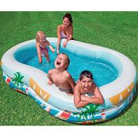 Бассейн надувной Детский надувной бассейн Райская лагуна Intex Размеры 262 x 160 x 46 см