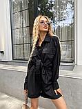 Костюм жіночий лляної річний сорочка і шорти, фото 6