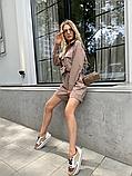 Костюм жіночий лляної річний сорочка і шорти, фото 8