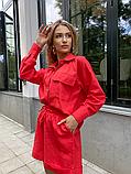 Костюм жіночий лляної річний сорочка і шорти, фото 9